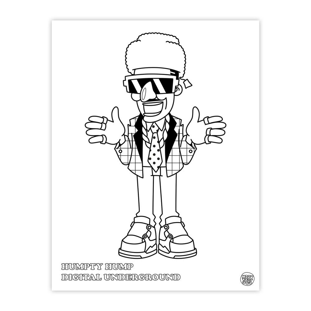 hiphop coloring book 1 - Hip Hop Coloring Book